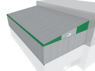 Coperture mobili capannoni e tunnel mobili in pvc for Capannone moderno