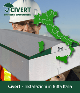 Civert, capannoni PVC, coperture mobili, tunnel industriali, tettoie