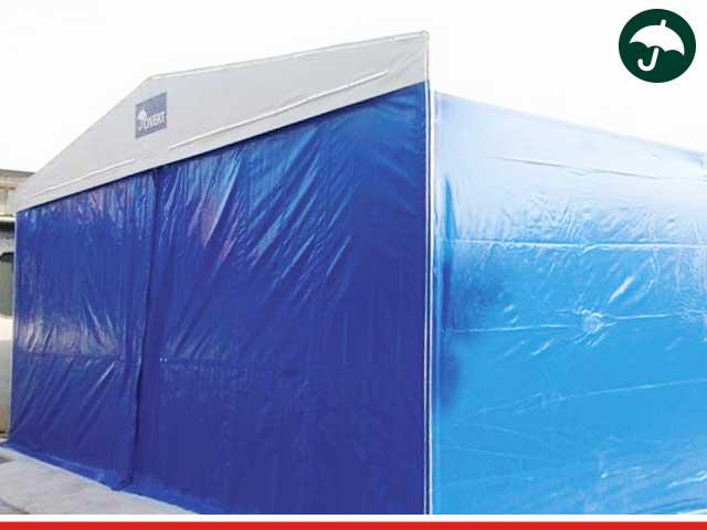 Civert realizzazione di un capannone in pvc per magazzini for Magazzini mobili