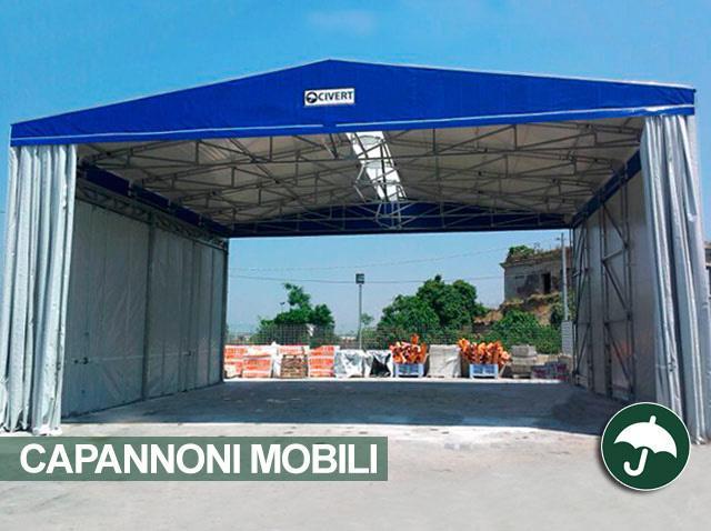 Capannoni mobili pvc indipendenti only civert for Magazzini mobili