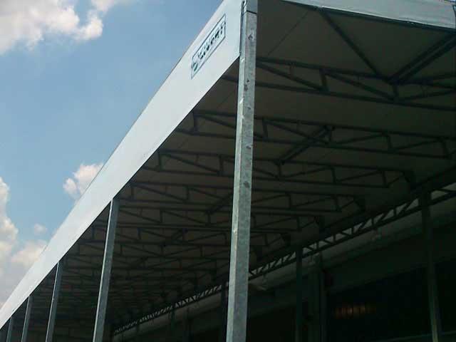 Tettoia rivestita in PVC - La nuova realizzazione di Civert