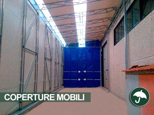 capannone mobile interno struttura