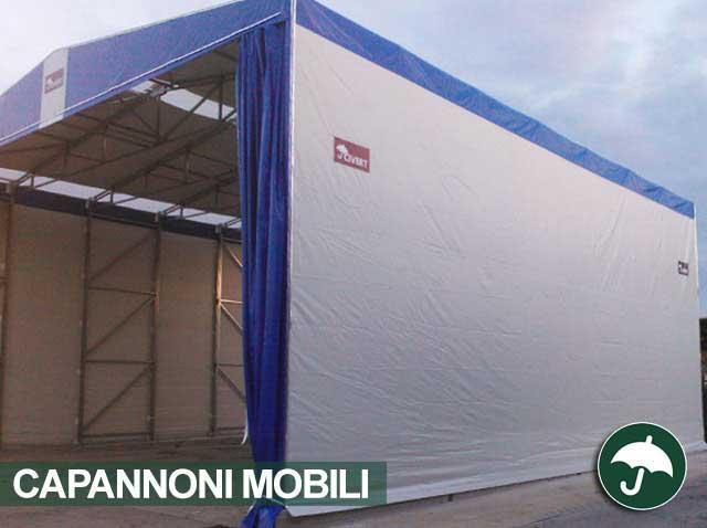 Capannone mobile lato struttura