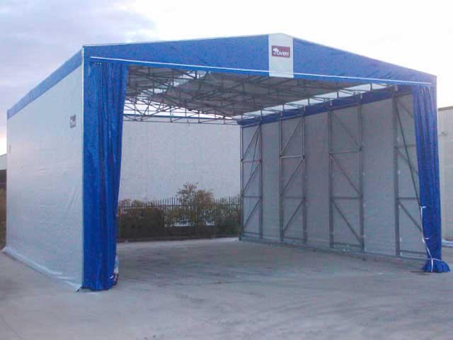 capannone mobile rivestimento in PVC