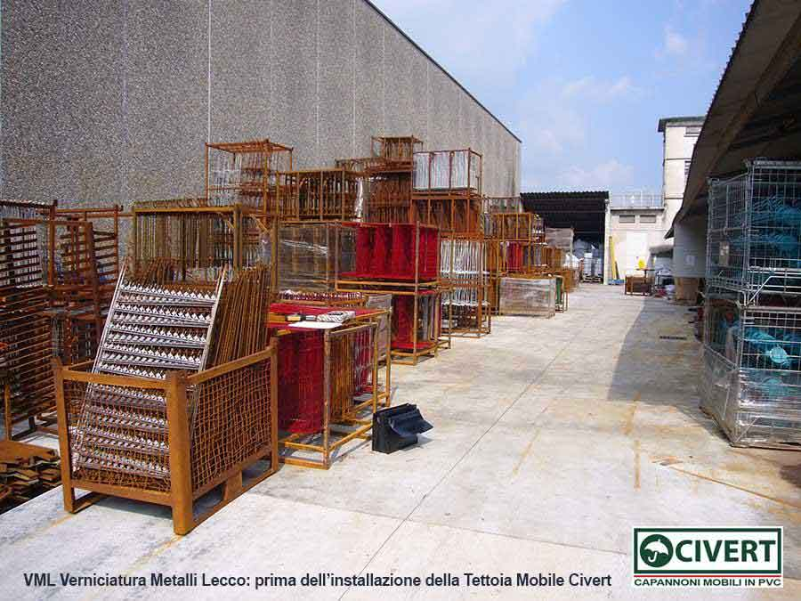 VML - prima dell'installazione della tettoia mobile Civert