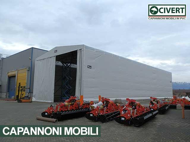 Capannone mobile tunnel pvc Civert