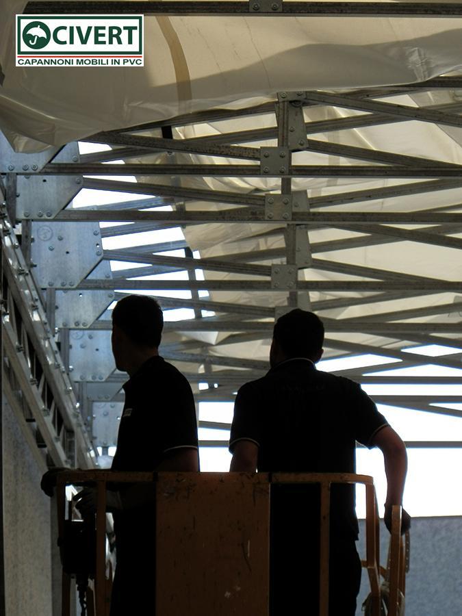 montaggio copertura bipendenza in pvc Roof per Ondulati Poggi