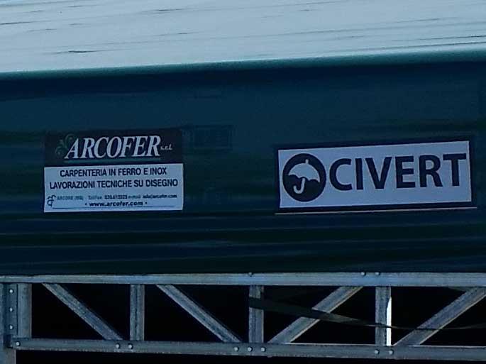 Copertura in pvc Civert per Arcofer