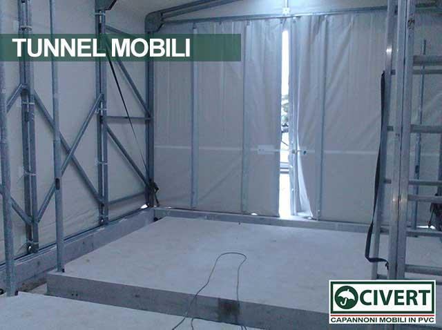 Tunnel Retrattile in PVC realizzato per Elettromeccanica Marchegiani