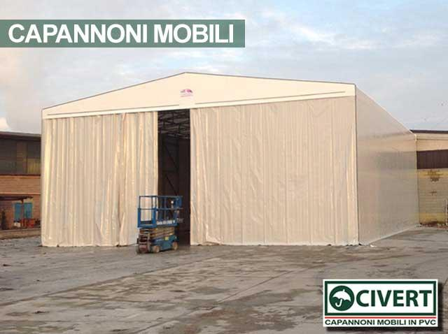 Capannone mobile indipendente Civert