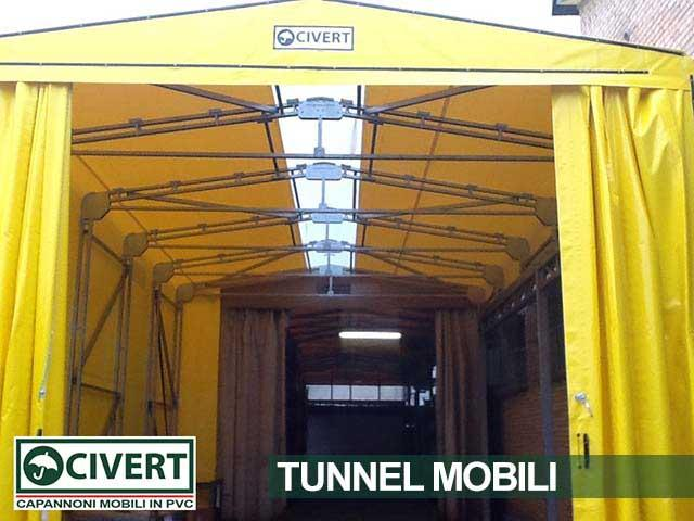 Copertura bside tunnel mobile Civert per Al.Fer srl