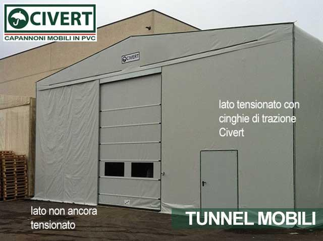 tunnel mobile con cinghie Civert