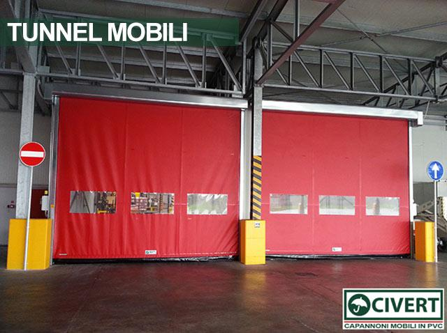 Tunnel di collegamento in pvc bussola Civert per Coca-Cola