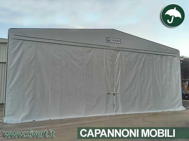 Copertura capannone mobile indipendente only Civert per Minimold spa