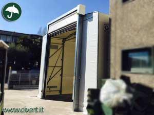 coperture mobili Lombardia: porta rapida