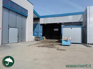 zona carico scarico prima dell'installazione dei capannoni mobili