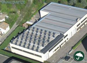 La sede produttiva Parini tecnologia per l'ambiente prima dell'installazione dei due tunnel in PVC