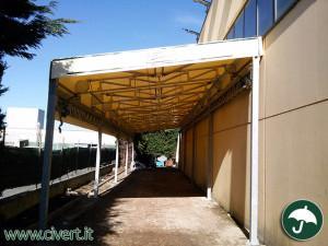 tettoia in PVC Civert per Parini. coperture mobili e tecnologia per l'ambiente