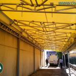 tunnel mobili: tettoia industriale in pvc