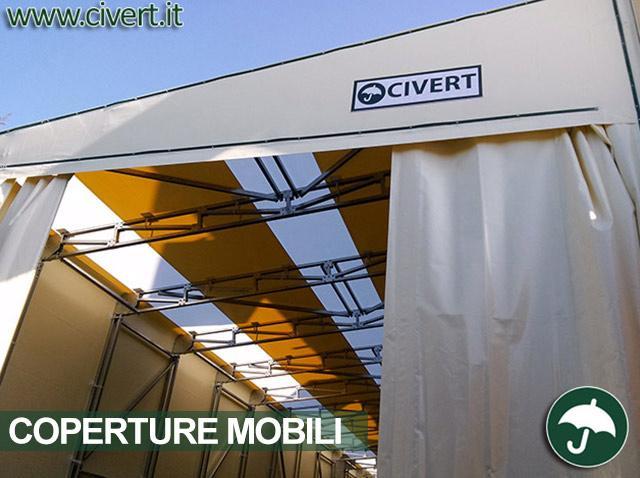 Copertura mobile tunnel monoside Civert per Parini
