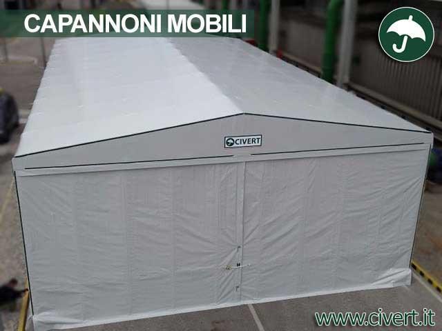 Copertura capannone mobile in pvc Civert