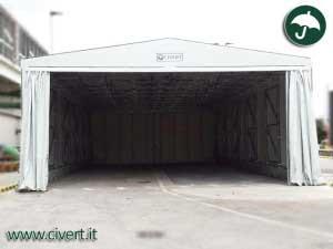 capannoni mobili, tunnel, coperture mobili a noleggio