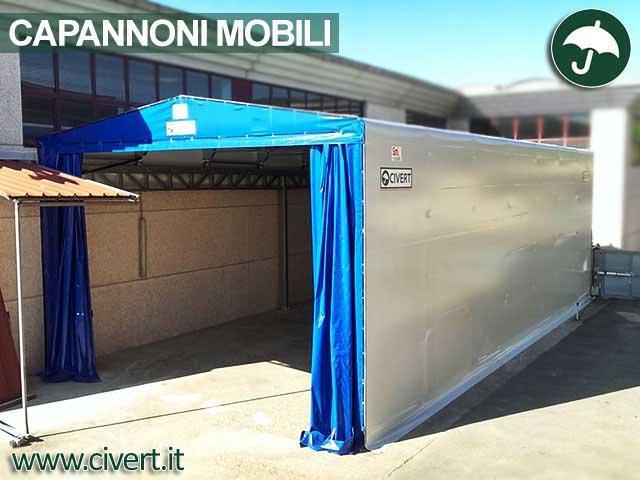 Coperture mobili capannoni e tunnel mobili in pvc for Magazzini mobili