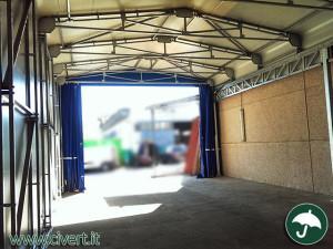 interno capannoni mobili in pvc per industria cartaria