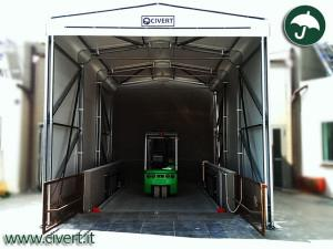 capannoni in PVC per montacarichi
