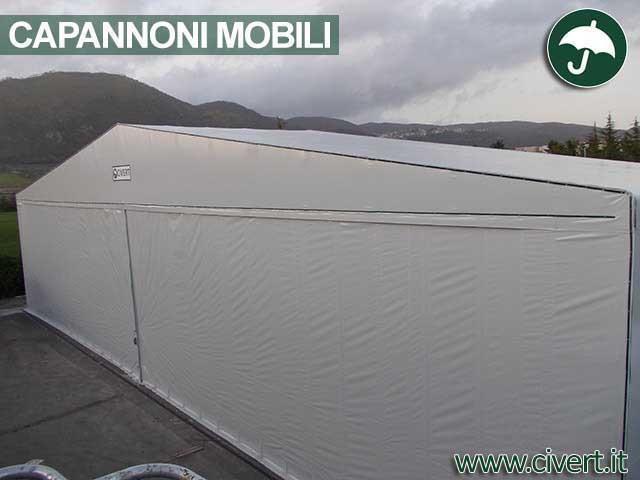 Coperture mobili, Capannoni e tunnel mobili in PVC