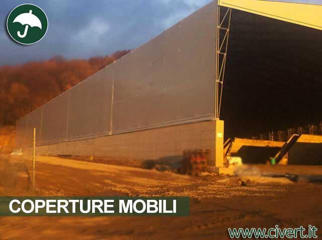 Copertura mobile in pvc Civert con un record di 36 metri di ampiezza