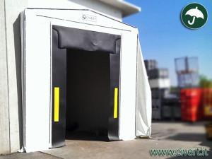 coperture mobili: tunnel chiocciola chiuso