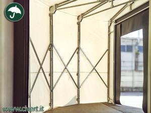 coperture mobili: tunnel chiocciola, interno.
