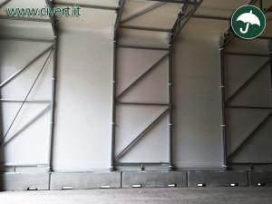 Coperture mobili: cordoli di coperture pvc per noleggio