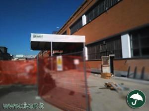 capannoni mobili: tettoia a sbalzo per Fiat Mirafiori