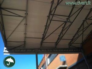 tettoia a sbalzo per Fiat Mirafiori: capannoni mobili Civert