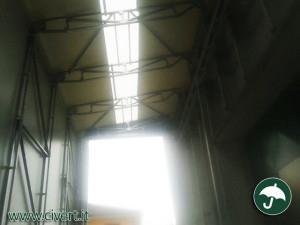 interno dei capannoni mobili con ultravision