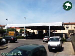 Coperture Mobili: tettoia indipendente Biroof per Lanificio Europa