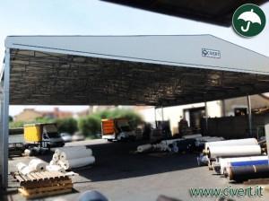 Coperture pvc: Vista della tettoia indipendente Biroof per Lanificio Europa