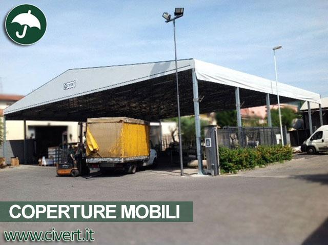 Grandi coperture mobili in pvc ampiezza e profondit for Grandi magazzini mobili