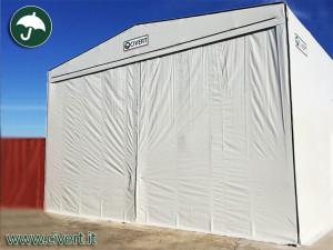 coperture mobili con tenda scorrevole per Vela