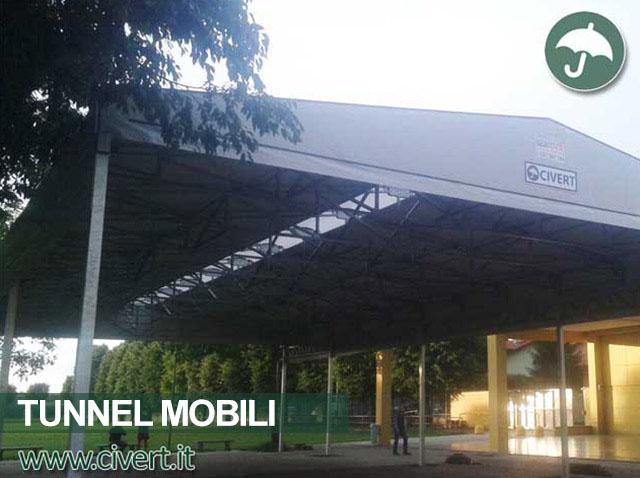 Tunnel mobile in pvc ignifugo