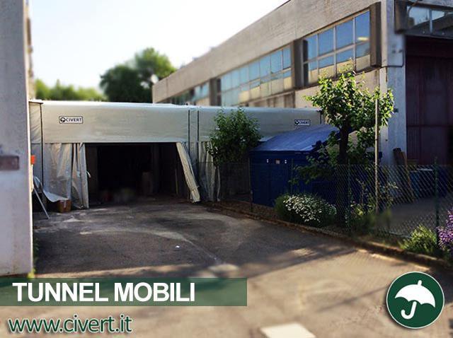 Tunnel mobile in pvc Civert per Mezzaqui srl