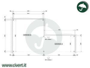 tunnel mobili in pvc: disegno Mezzaqui