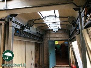 tunnel mobili adiacenti: tettoie in pvc interno