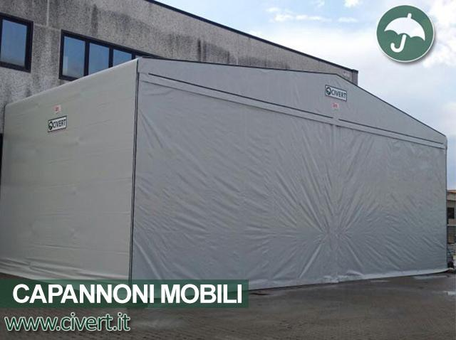Capannone mobile frontale in pvc Civert