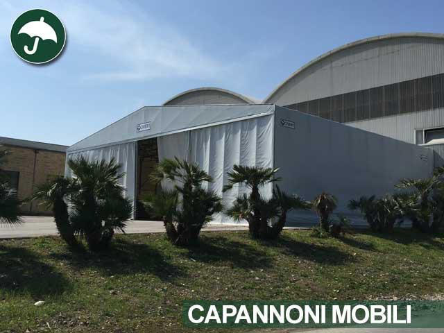 Capannone mobile tunnel Civert per Top Fondi Spa