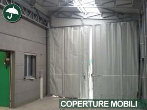 coperture mobili industriali in pvc in Piemonte: vista interna