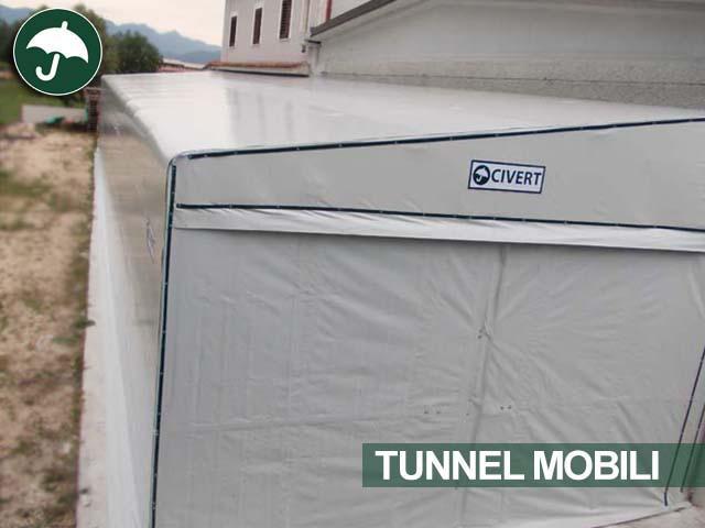Tunnel mobile laterale monopendenza Monoside per l'agroalimentare