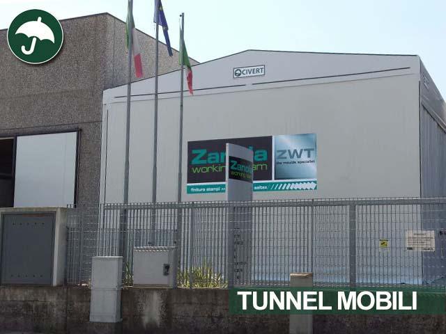 tunnel mobili in pvc bipendenza